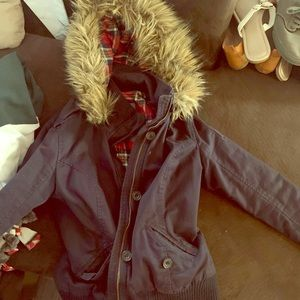 Abercrombie & Fitch Large Navy Women's Bomber